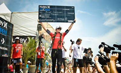The hometown kid wins $100,000. photo: Hurley