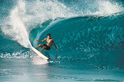 The cutback that inspired a generion of surfer. Pic: Servais