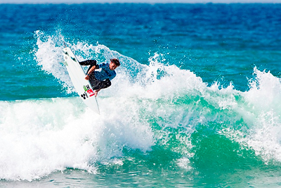 Dane Reynolds punts at Lowers. Rowland/ASP
