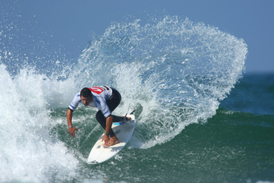 Local hero Patrick Bevan took down Parko, Dean Morrison and Bobby Martinez en route to a third place. Quiksilver/Chauche