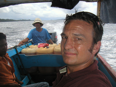 I was (Lewis) Samuels before Samuels was Samuels. Surf journalist Tim Baker on assignment in the Mentawais.
